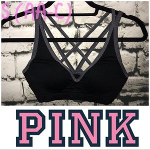 Pink sport bra